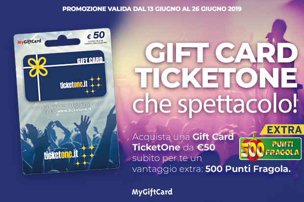 Offerta Gift Card TicketOne