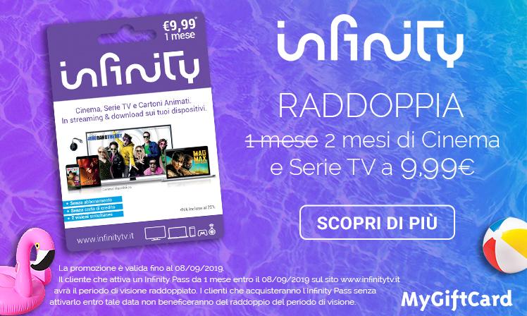 Infinity Pass offerta 1 mese gratis