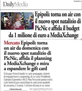 Daily Media: Epipoli a Natale torna in TV