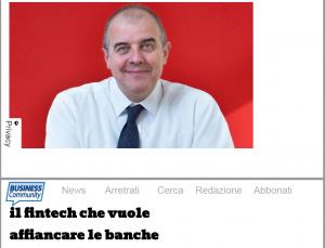 Gaetano Giannetto sulla copertina di Business Community