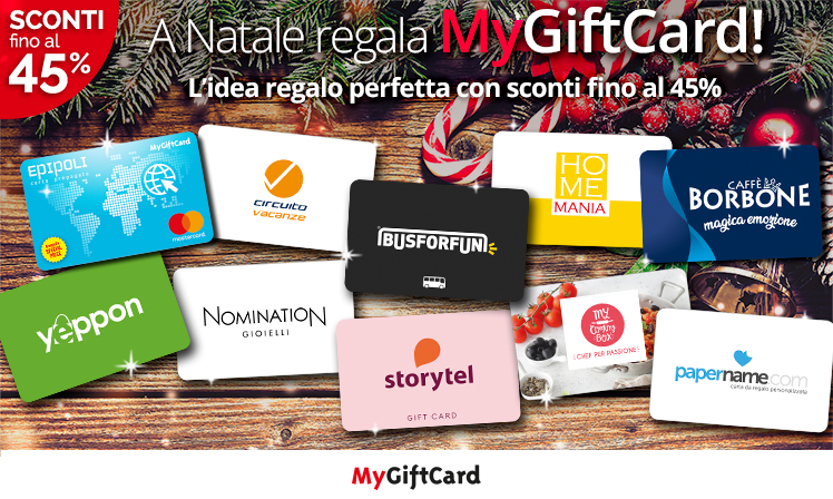 Gift Card Scontate: offerta Natale 2019