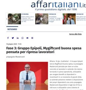 Carta Buona Spesa su Affaritaliani.it